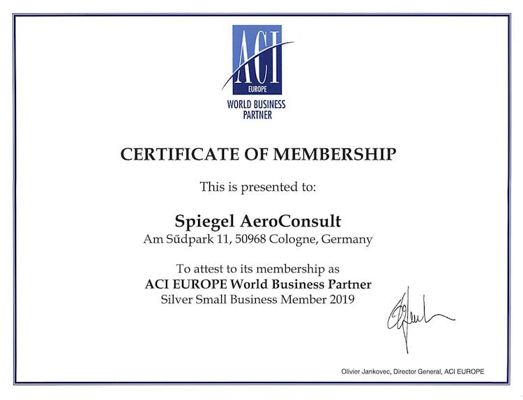 ACI Certificate of Membership